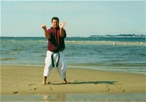 Tensho Kata practice, Cape Cod, MA, circa, 1999