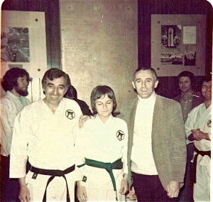 Sensei Nick, myself, Shihan Don Nagle, Circa: 1975