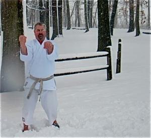 Tensho Kata in a snowstorm